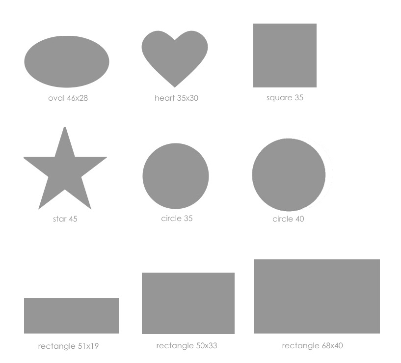 single colour sticker shapes