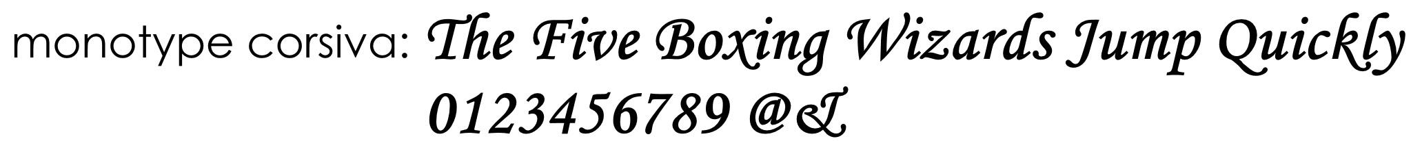 font monotype corsiva