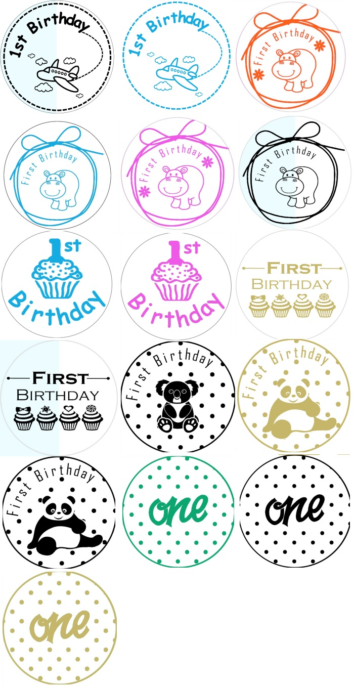 Aged Birthday gloss and metallic stickers labels invitation seals party   100!